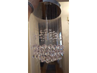 chrystal effect ceiling light