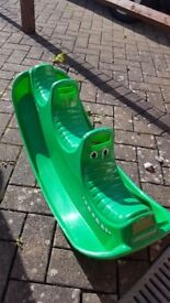 Kids Garden SeeSaw Toy - rocking crocodile