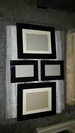 4x Black Glass Frames