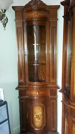 For sale 3 pc mahogany set- corner unit, triple unit, round table and four chairs