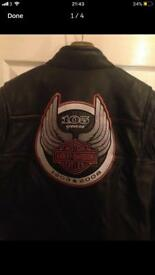 Harley Davidson 105 year Anniversary Leather Jacket