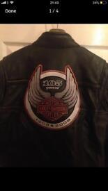 Harley Davidson 105 year Anniversary Leather Jacket