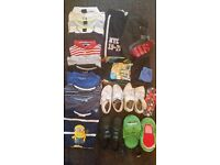 Boys clothes and shoes bundle age 4-9 years ( spring /summer) 32 items