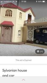 Sylvanian house and car
