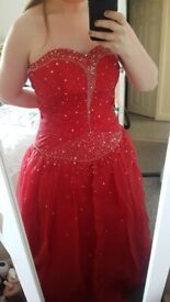 Prom red ballgown for sale