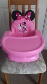 Minnie Mouse go anywhere booster seat
