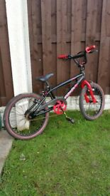 """Boys 20"""" bmx like new in red can deliver for a small charge"""