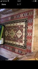 Beautiful large pure wool Rug / Kilim 160x230cm by Asiatic carpets London
