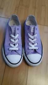 Purple satin girl's Converse