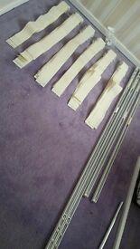 4 veetical blinds excellent condition