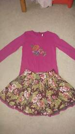 Kenzo skirt and top set 8yrs