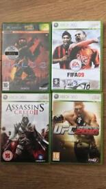 4 Xbox 360 games for sale.