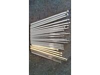 Selection of 28 Crochet Hooks, some double ended, various sizes