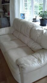 FREE - Matching Sofas 3 seater and 2 seater cream leather