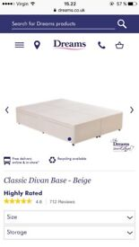 Double bed base with drawers