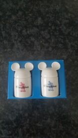 Disney Mickey Mouse ceramic white salt & pepper set, New £4