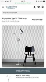 Designer lamp / Anglepoise Type 75 Floor Lamp brushed aluminium