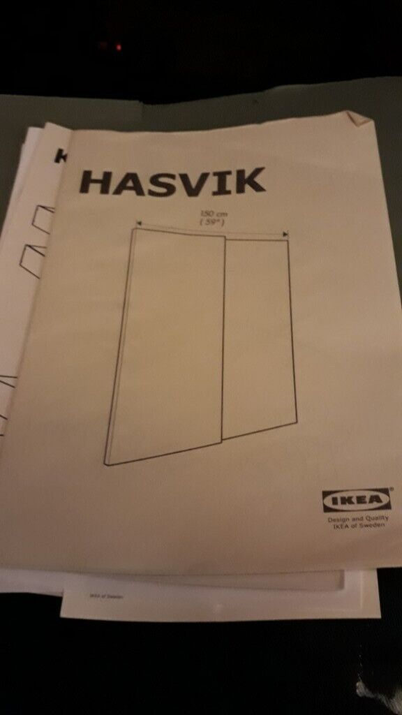 IKEA HASVIK sliding wardrobe doors and sliding rail kit | in Melton  Mowbray, Leicestershire | Gumtree