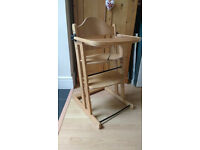 Cosatto wooden high chair