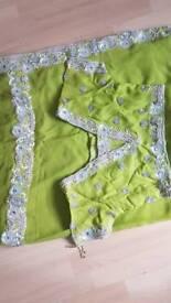 Pearl green saree suit