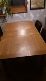 Light oak dining table