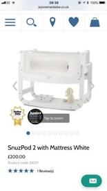 Snuz pod 2 including mattress, mattress protector and sheets