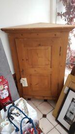 Corner cabinet / cupboard Bespoke antique solid wood