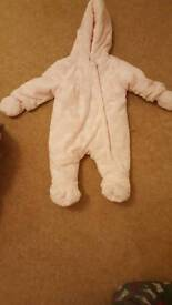 Beautiful baby girl 3-6 months snow suit