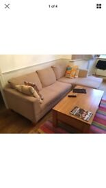 Large corner sofa and armchair