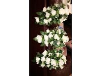 Real silk wedding bouquets and button holes