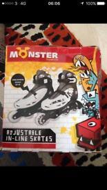 Roller skates/ in-line/ inline skates adjustable size 2-4