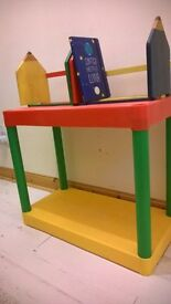 ikea storage dragon bowls Bright colour red blue yellow wood book rack ikea bowls bookcase £5 lot