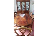 Dining Room Table and Display Unit