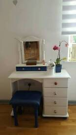 Dressing table with stool
