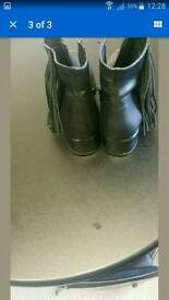 River island leather boots size 4