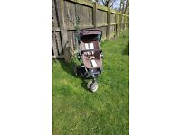 Quinny buzz pram with cot travel system in racoon brown
