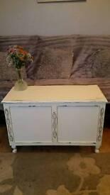 Shabby chic vintage oak ottoman / blanket box