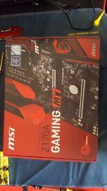 MSI M7 Z170A and 4 x 4Gb GSkills Raw DDR4 RAM