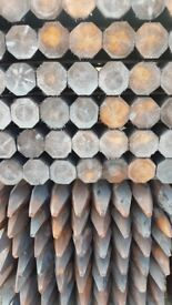 All types of fencing timber