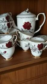 "Royal Staffordshire ""Roses to remember "" full tea & coffee set ."