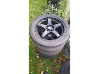 Lenso Project D1-R 4x114.3/4x100 17x7J Alloy Wheels With Tyres