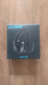 For sale Logitech G533 wireless gaming Headset. DTS 7.1 surround sound. Still boxed.