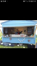 12ft unique and quirky, wooden cladded catering trailer....ready to work!!