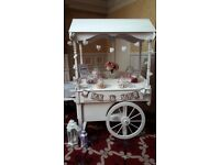 Candy cart hire and wedding favours