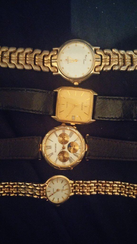 Job lot of working vintage watches