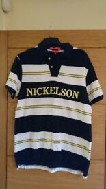Nickelson men's polo top, New, no tags, £4