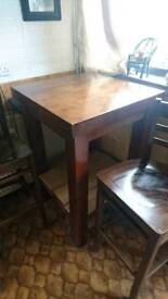 Solid wood breakfast table