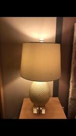 Large cream lamp