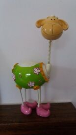 Pottery sheep money box / ornament