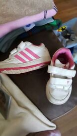 Girls Adidas trainers size 6 infant